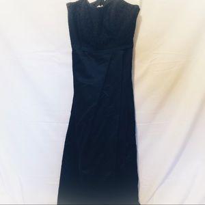 David's Bridal Size 14 Navy Bridesmaid Dress
